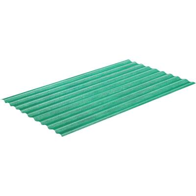 Sequentia WeatherGlaze 26 In. x 12 Ft. Green Round 1-Sided Fiberglass Corrugated Panels