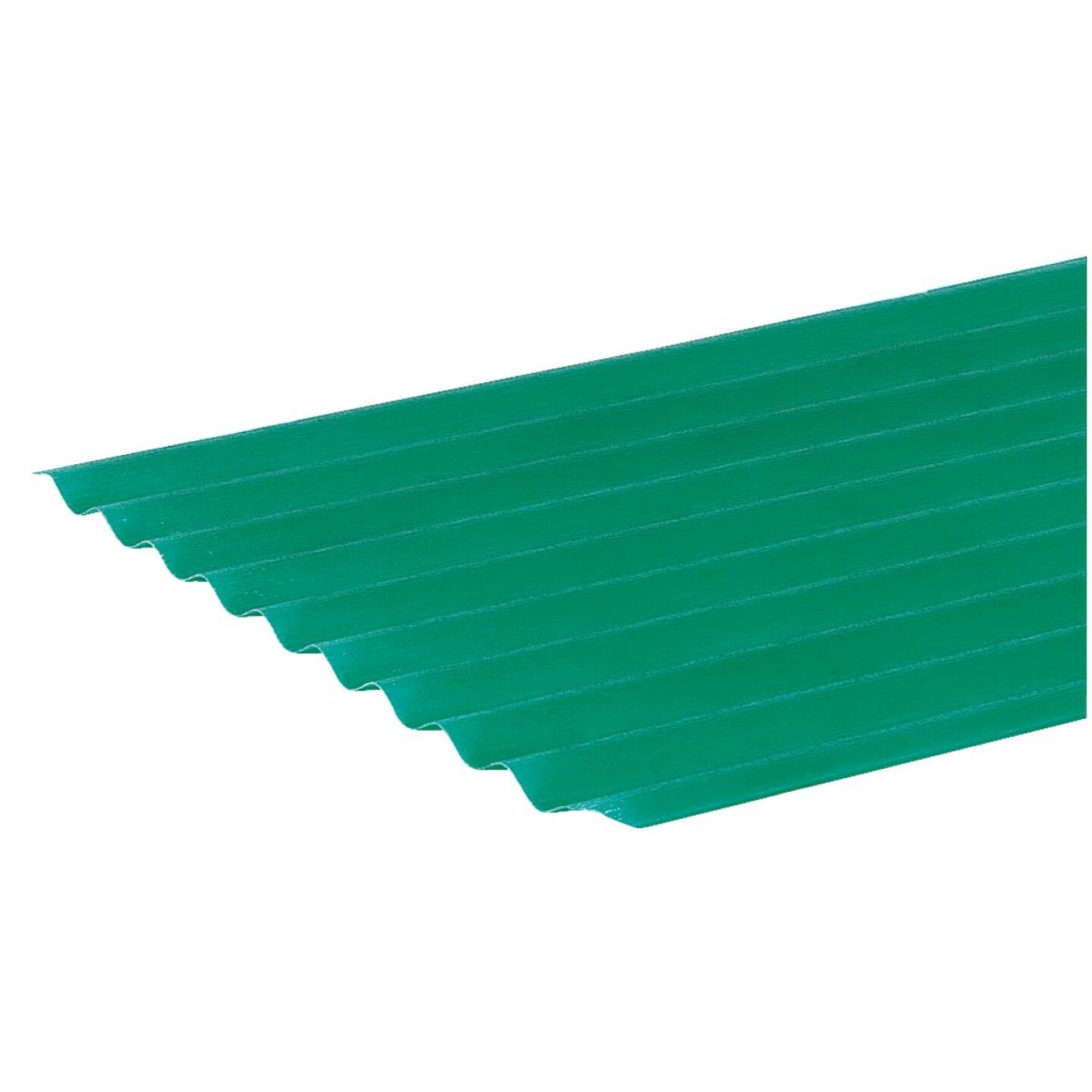 Sequentia WeatherGlaze 26 In. x 10 Ft. Green Round 1-Sided Fiberglass Corrugated Panels Image 2