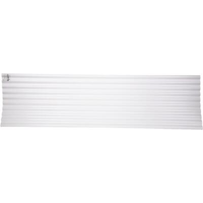 Tuftex Seacoaster 26 In. x 12 Ft. Opaque White Round Wave Polycarb & Vinyl Corrugated Panels