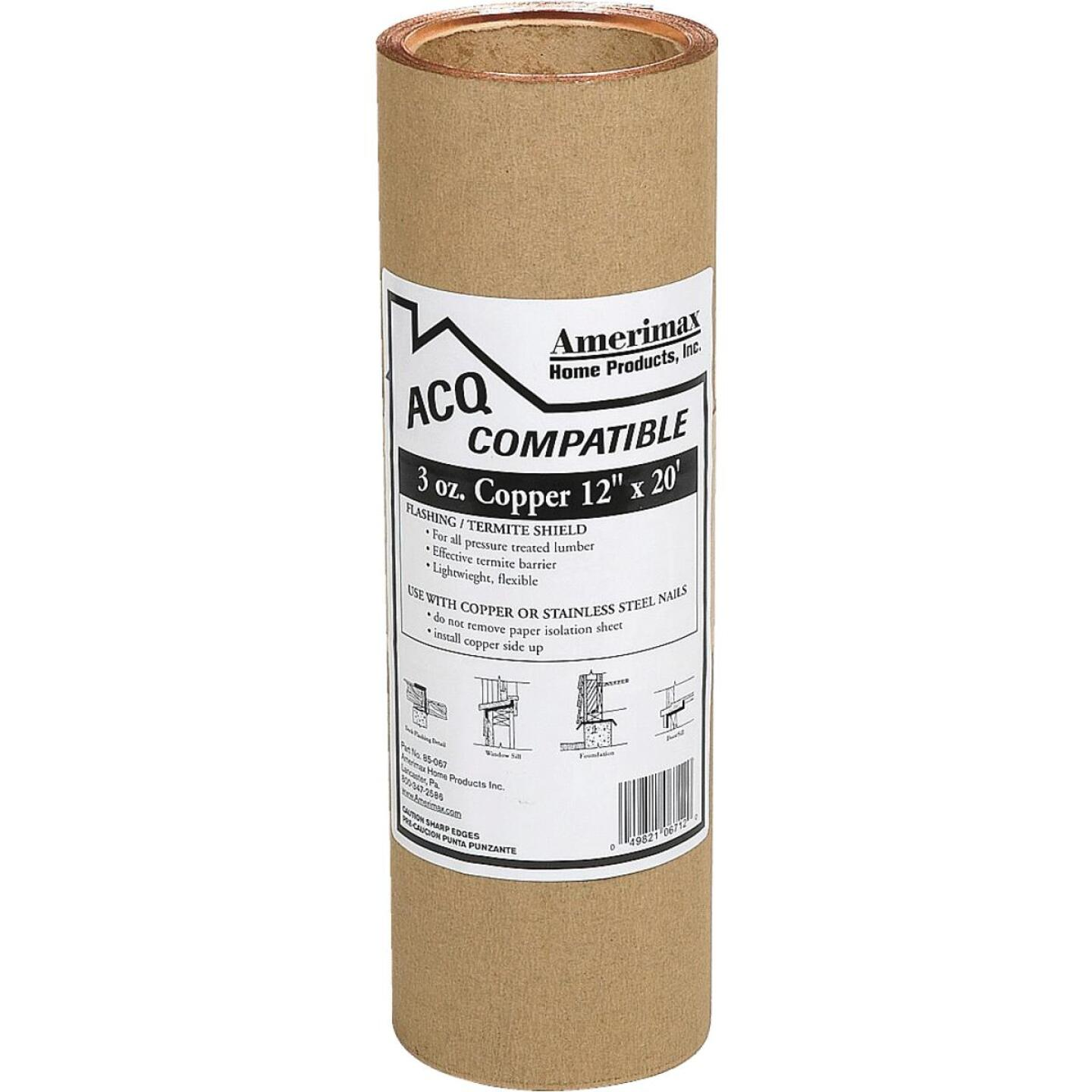 Amerimax 12 In. x 20 Ft. Copper Roll Valley Flashing Image 1