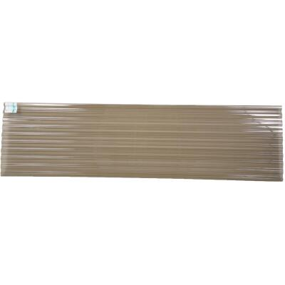 Tuftex PolyCarb 26 In. x 12 Ft. Translucent Smoke Square Wave Polycarb & Vinyl Corrugated Panels