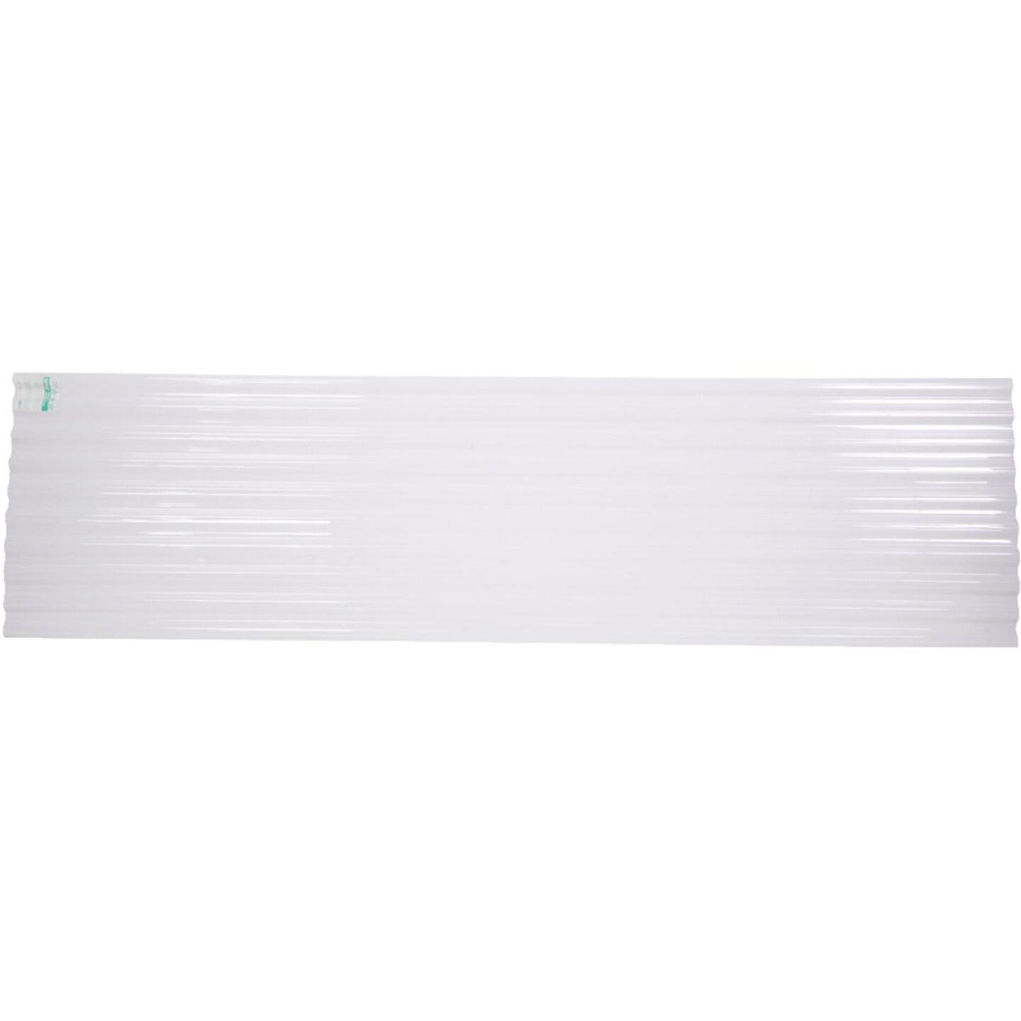 Tuftex PolyCarb 26 In. x 12 Ft. Translucent White Square Wave Polycarb & Vinyl Corrugated Panels Image 1