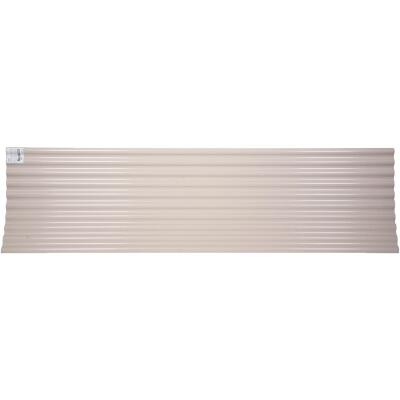 Tuftex Seacoaster 26 In. x 12 Ft. Opaque Tan Round Wave Polycarb & Vinyl Corrugated Panels