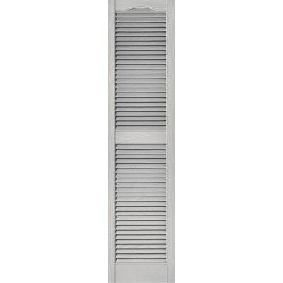 Builders Edge 15 In. x 55 In. Vinyl Louvered Shutter, (2-Pack)