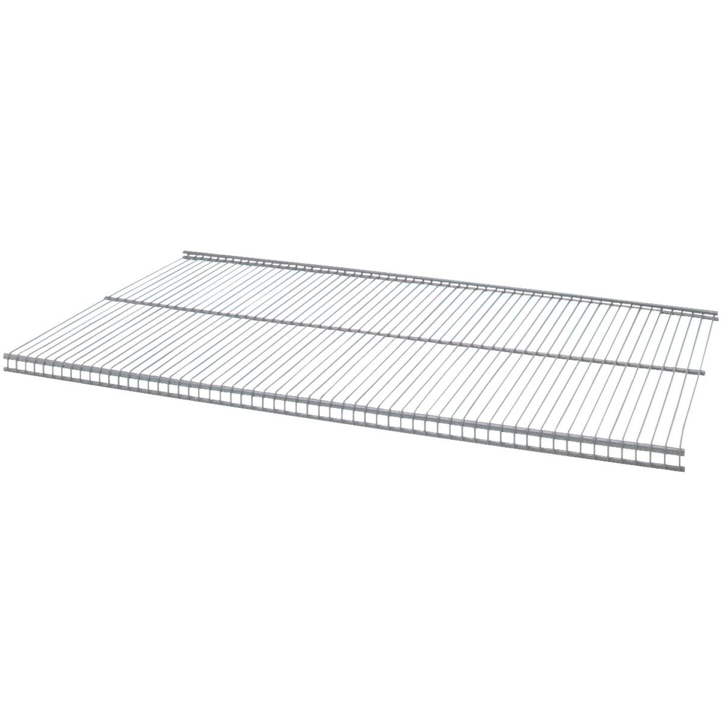 Organized Living FreedomRail 3 Ft. W. x 12 in. D Profile Ventilated Closet Shelf, Nickel Image 1