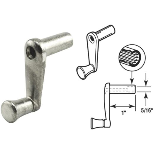 Slide-Co 1 In. Aluminum Casement Window Crank Handle