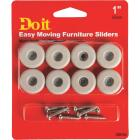 Do it 1 In. Round Adhesive and Screw on Furniture Glide,(8-Pack) Image 1