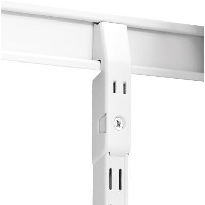 Knape & Vogt 82 Series 4 In. White Steel Shelf Standard Mounting Bracket Hang Rail Link (2-Pack)