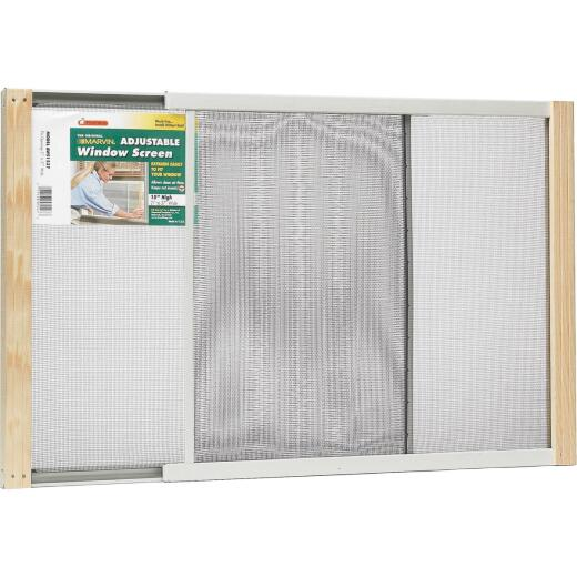 Frost King 21 to 37 In. W. x 15 In. H. Adjustable Metal Rail Screen