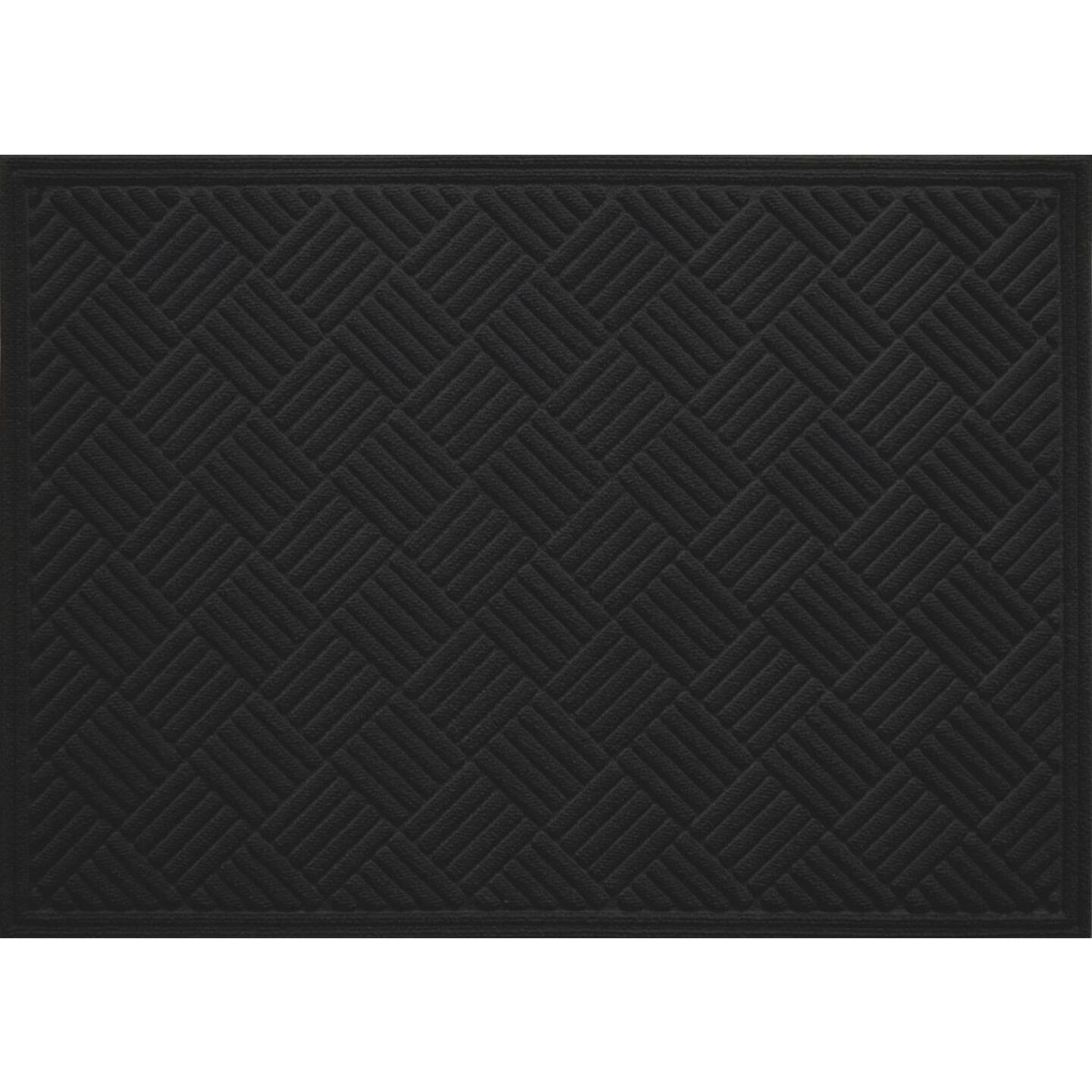 Multy Home Contours 3 Ft. x 4 Ft. Black Carpet Utility Floor Mat, Indoor/Outdoor Image 1