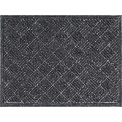 Multy Home Contours 3 Ft. x 4 Ft. Gray Carpet Utility Floor Mat, Indoor/Outdoor