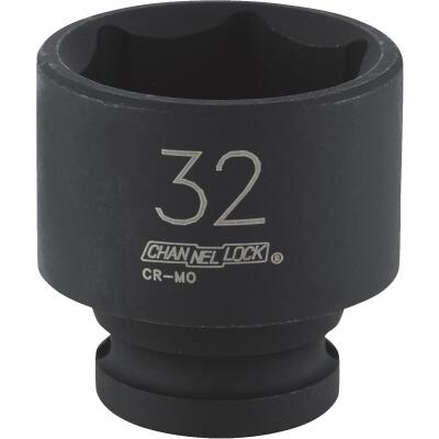 Channellock 1/2 In. Drive 32 mm 6-Point Shallow Metric Impact Socket