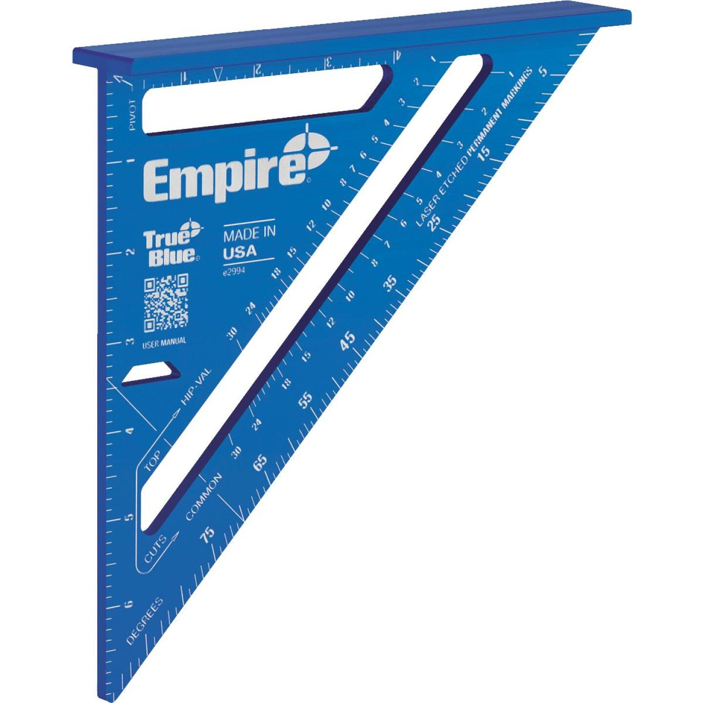 Empire True Blue 7 In. Aluminum Laser Etched Rafter Square Image 2