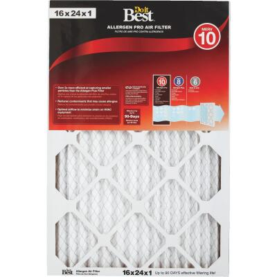Do it Best 16 In. x 24 In. x 1 In. Allergen Pro MERV 10 Furnace Filter