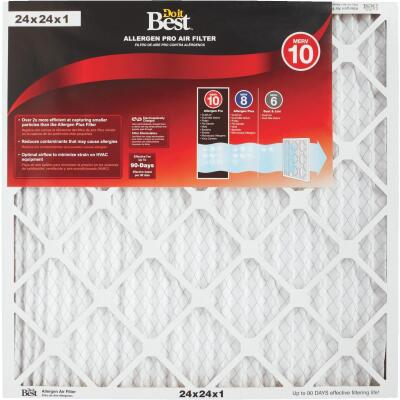 Do it Best 24 In. x 24 In. x 1 In. Allergen Pro MERV 10 Furnace Filter