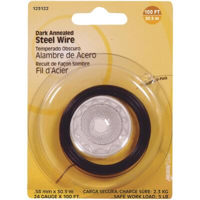 Hillman Fastener Corp 100 Ft. 24 Ga. Dark Annealed Steel Wire