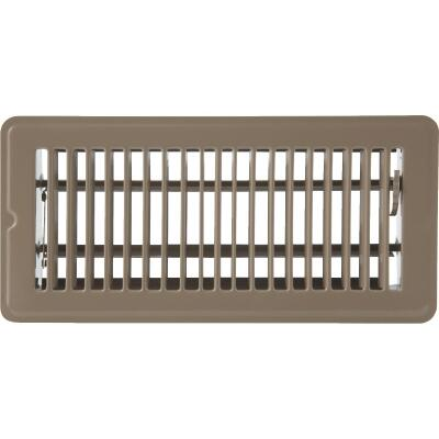 Home Impressions 4 In. x 10 In. Brown Steel Floor Register