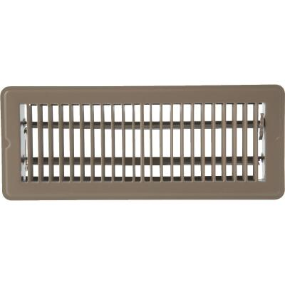 Home Impressions 2-1/4 In. x 12 In. Brown Steel Floor Register