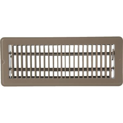 Home Impressions 4 In. x 12 In. Brown Steel Floor Register