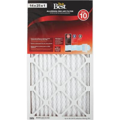 Do it Best 14 In. x 25 In. x 1 In. Allergen Pro MERV 10 Furnace Filter