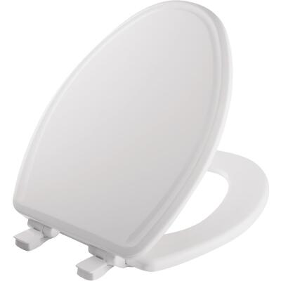 Mayfair Kendall Elongated Closed Front WhisperClose White Enameled Wood Toilet Seat