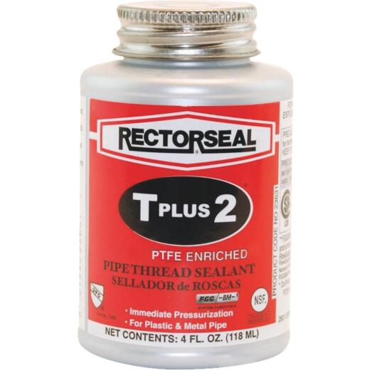 Rectorseal T Plus 4 Fl. Oz. White Pipe Thread Sealant with PTFE