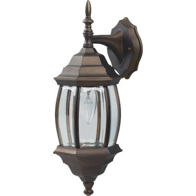 Home Impressions Oil Rubbed Bronze Incandescent Type A or B Outdoor Wall Light Fixture (2-Pack)