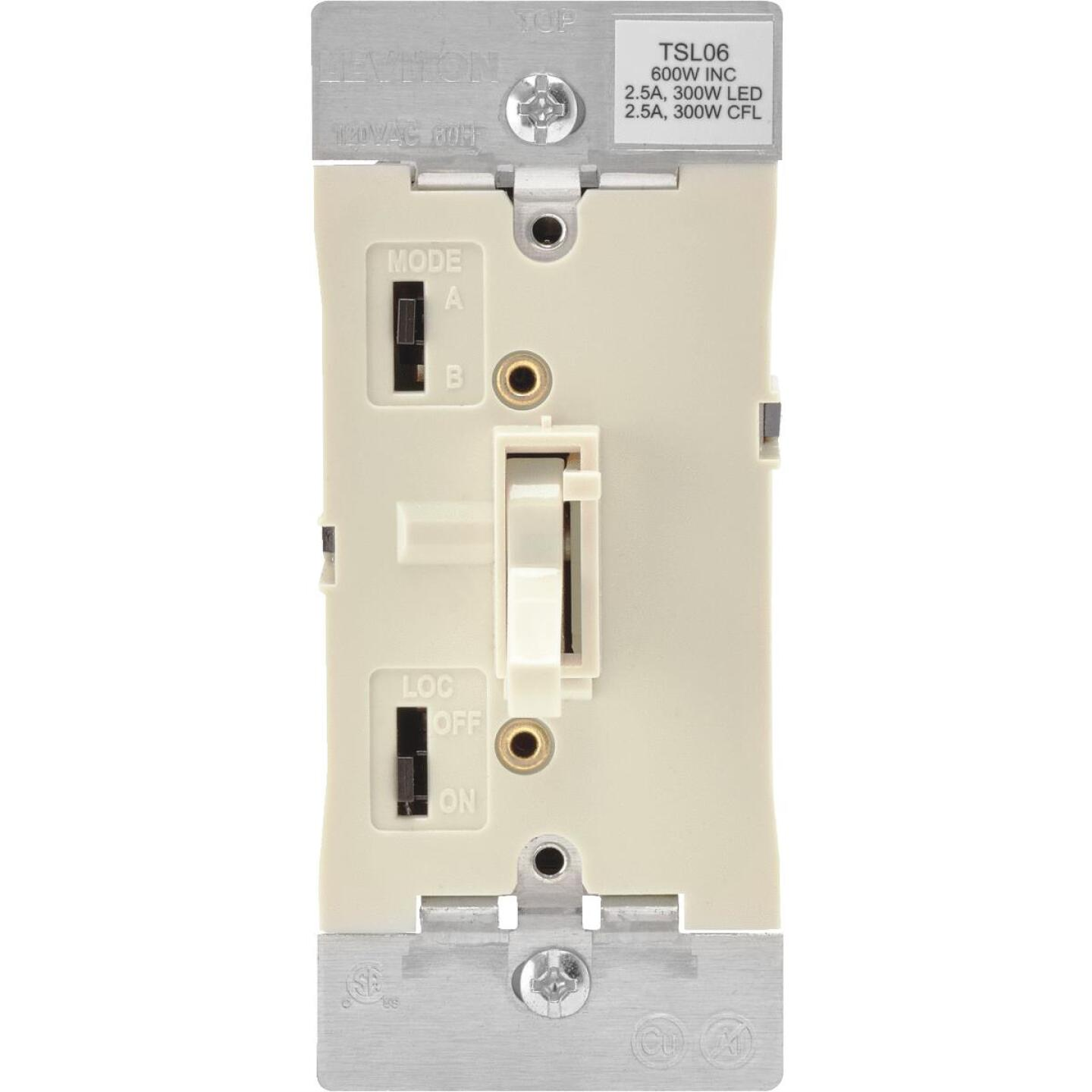 Leviton Incandescent/Halogen/LED/CFL Light Almond Slide Dimmer Switch Image 1