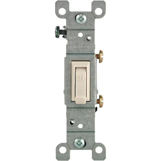 Leviton Residential Grade 15 Amp Toggle Single Pole Switch, Light Almond, 10-Pack