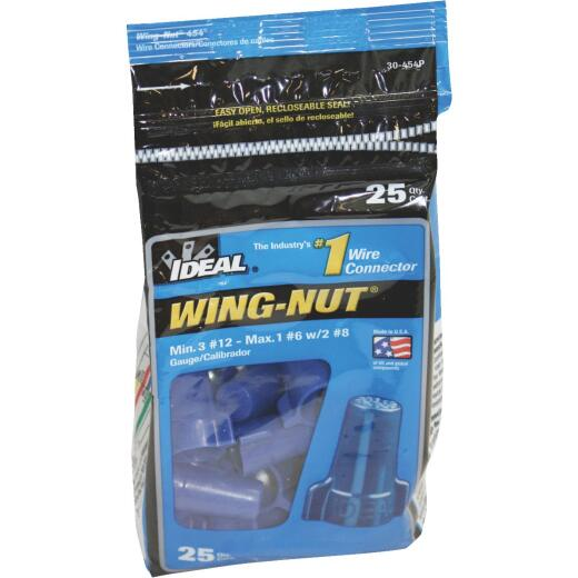 Ideal Wing-Nut Large Blue Copper to Copper Wire Connector (25-Pack)
