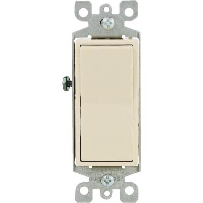 Leviton Decora Residential Grade 15 Amp Rocker Single Pole Switch, Ivory