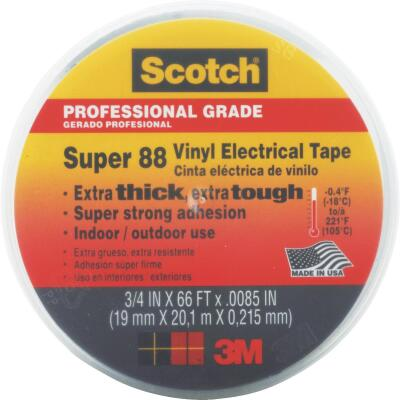 3M Scotch Weather Resistant 3/4 In. x 66 Ft. Electrical Tape