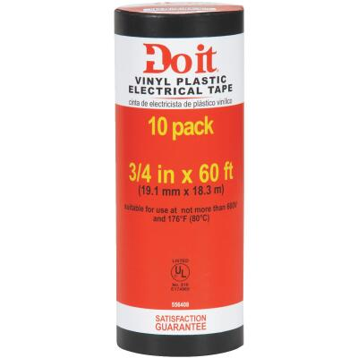 Do it General Purpose 3/4 In. x 60 Ft. Electrical Tape (10-Pack)