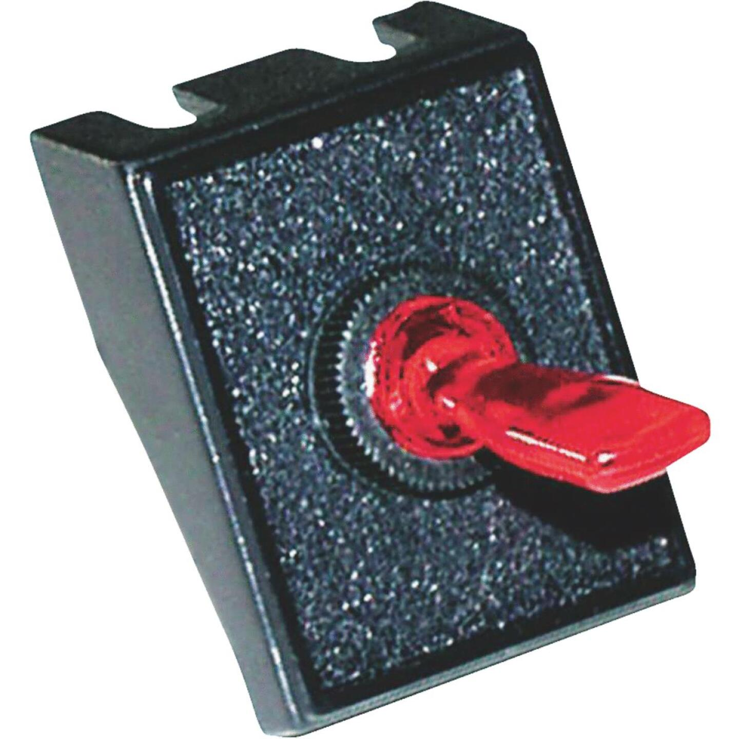 Calterm Red Male Blade 20A Toggle Switch & Panel Combination Image 1