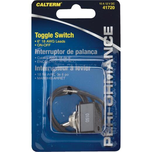 Calterm Pre-Wired Metal Wire Ends 10A Toggle Switch