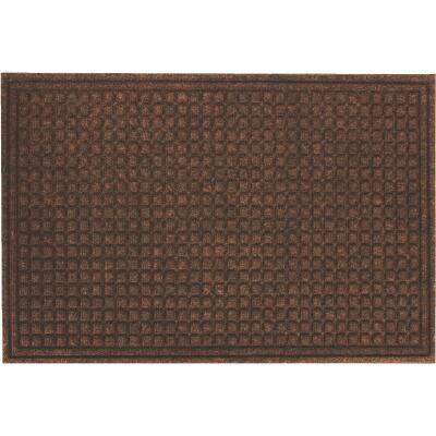 Apache Textures Walnut 24 In. x 36 In. Carpet/Recycled Rubber Door Mat