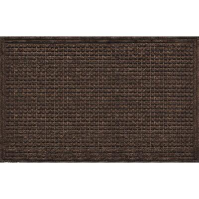 Apache Textures Walnut 36 In. x 60 In. Carpet/Recycled Rubber Door Mat