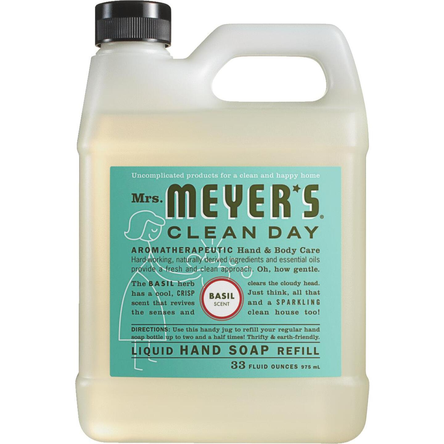 Mrs. Meyer's Clean Day 33 Oz. Basil Liquid Hand Soap Refill Image 1