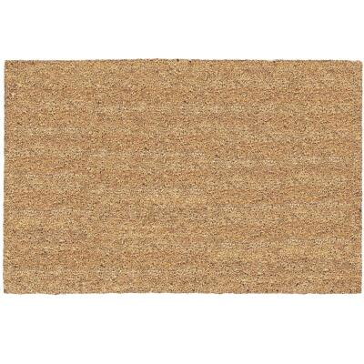 Americo Home Tan 24 In. x 36 In. Coir/Vinyl Door Mat