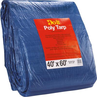 Do it Blue Woven 40 Ft. x 60 Ft. Medium Duty Poly Tarp