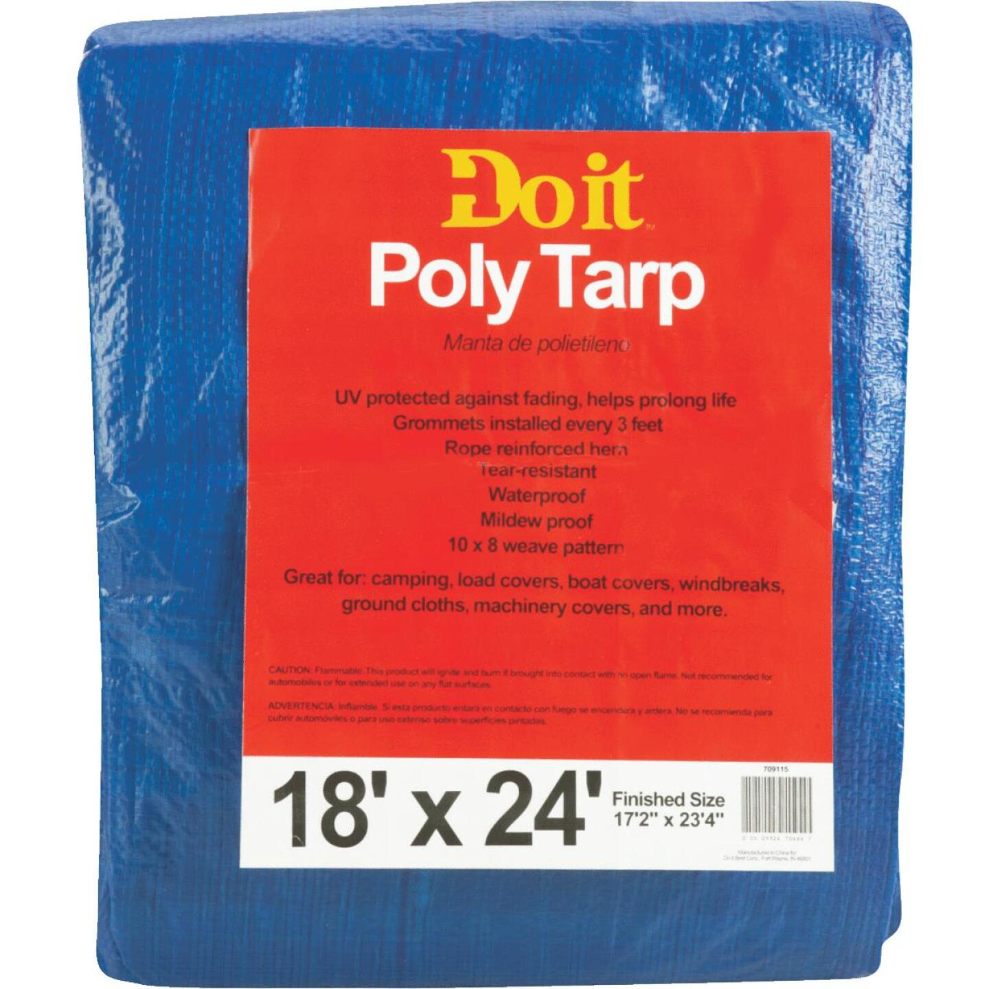 Do it Blue Woven 18 Ft. x 24 Ft. Medium Duty Poly Tarp Image 1