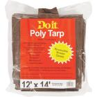 Do it Green/Brown Woven 12 Ft. x 14 Ft. Medium Duty Poly Tarp Image 2