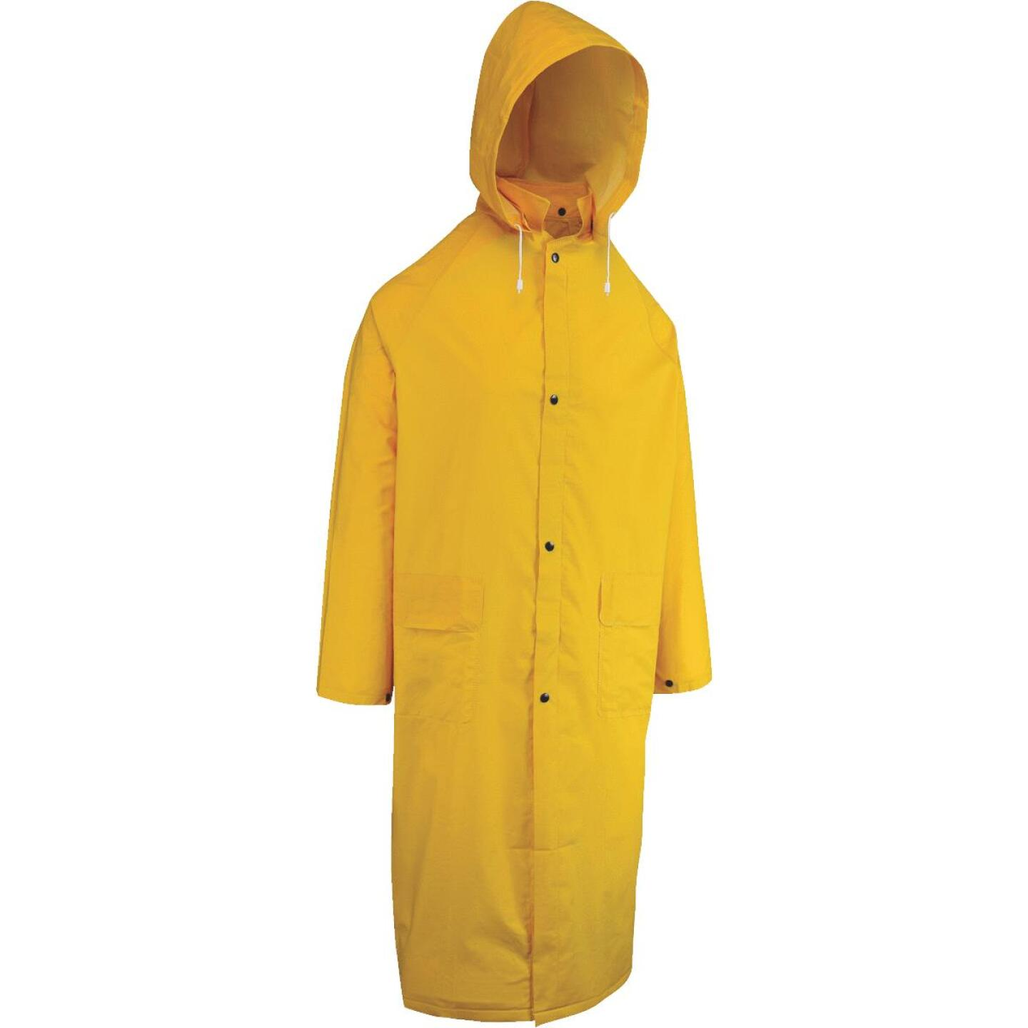 West Chester Large Safety Yellow PVC Trench Coat Image 1