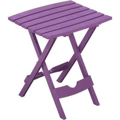Adams Quik-Fold Violet 15 In. x 17.5 In. Rectangle Resin Folding Side Table