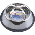 Westminster Pet Ruffin' it Stainless Steel Circular 24 Oz. No Skid Pet Food Bowl Image 1