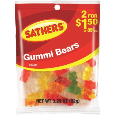 Sathers Assorted Fruit Flavors 3.25 Oz. Gummi Bears