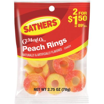 Sathers 2.75 Oz. Peach Rings