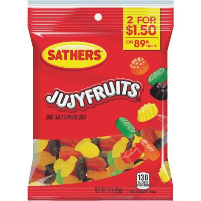 Sathers Assorted Fruit Flavors 3 Oz. JuJy Fruits
